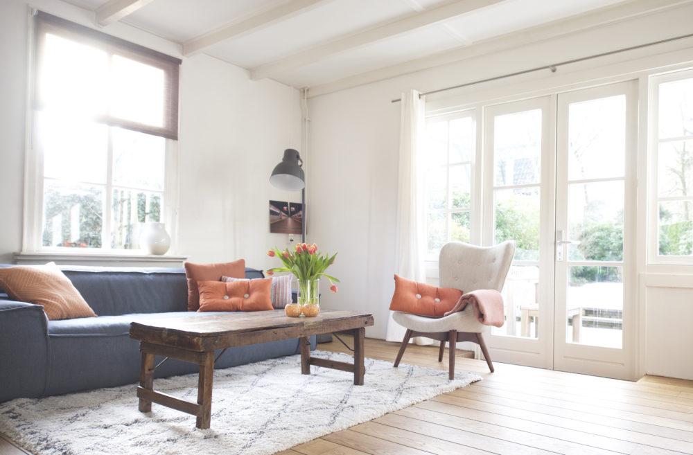 woonkamer Laren, omgeving Amsterdam